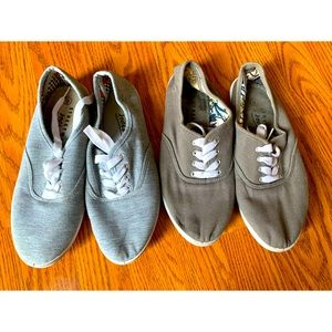 Dark & Light Grey Laced Shoes BUNDLE